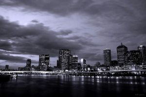 Brisbane City at Dusk by LPeregrinus