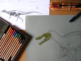 Old Baryonyx WIP by BrokenMachine86
