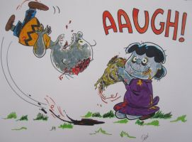 Peanuts Gang goes Zombie by dannphillips