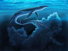 Mosasaur in space by NetRaptor