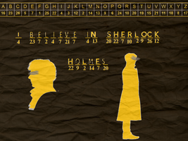 I Believe In Sherlock Holmes Cryptogram by 14LolaLoverX3