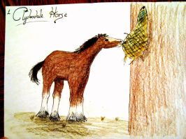 100 Animal Challenge - Clydesdale Horse by XcubX