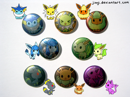 Eeveelution Buttons 2 by Jiayi