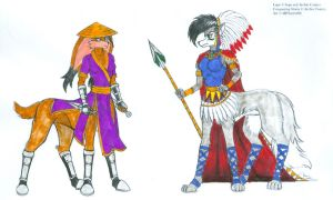 East meets West - Lupe and C.Storm Taurs Color by dragonheart07