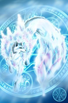 Ice Wolf Element of Ice by ahyou1991