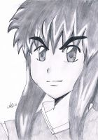 Inuyasha as Human and speed drawing by AnimeAleChan
