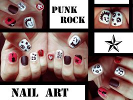 Punk Rock NAil Art by KariInlove