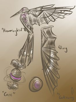 Wind Concept Sketch - Stymphalian Bird by Cookiewing