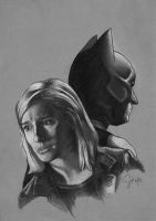 Batman and Watchtower by Sini-M