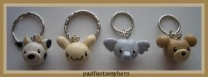 Critter Keyrings by padfootsmyhero