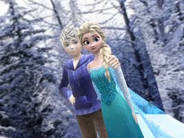 MMD Frozen-RotG - Favorite Snow couple by JackFrostOverland