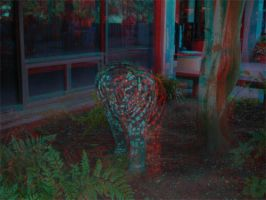 Tiger Statue Anaglyph by frostdemn