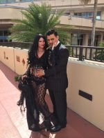 full shot morticia and gomez metrocon 2014 by FiveFootFireStarter