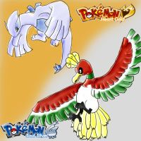 HGSS: Lugia n Ho-Oh by Avi-the-Avenger