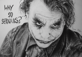 The Joker Heath Ledger Portrait by darrenOhhh