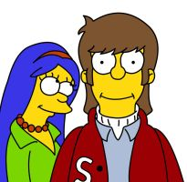 Homer and Marge Simpson (The Simpsons) -19 by frasier-and-niles