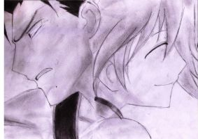 Kurogane and Fai by rachelegranger