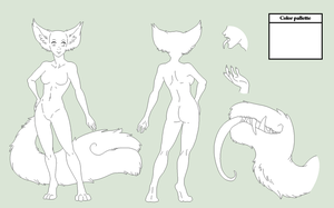 Female Tailmout Ref Base - MS Paint Version by Shadow-Bases