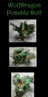 Wolf Dragon Posable Doll by Eviecats