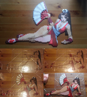 Mai Shiranui bead sprite (with WIP shots) by montoyaa520