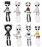 Outfit Adoptable Mix [CLOSED] by Hunibi
