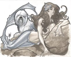 Not So Little Mermaid by AdamHughes