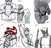 Sketch cards by timmayer