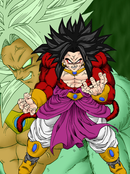 Unstoppable Broly by HollowfiedVegeta