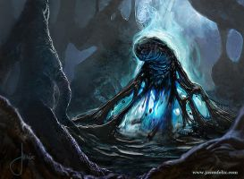 Creeping Tar Pit -Magic The Gathering by jason-felix