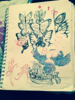 Butterfly Sails and Starry Nights by FuneralDyingheart