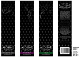 Alcheme Vodka Bottle Label by snaxnz