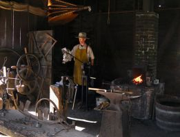 Blacksmithing at Sutter Mine by Earthmagic