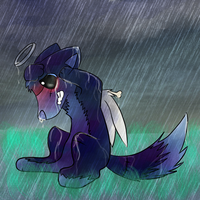 V - Seeking Solace ~ ''Pouring down sadness'' by CleverConflict