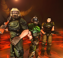 Doomguy Evolution (1993-2004) by SchwarzDahlie