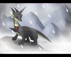On the mountain by DarkDragon-Phoenix