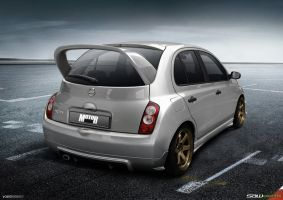 Nissan Micra K12_rearView by yasiddesign