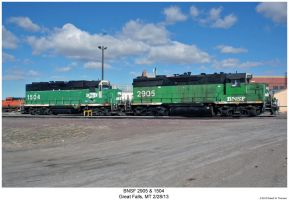 BNSF 2905 + 1504 by hunter1828
