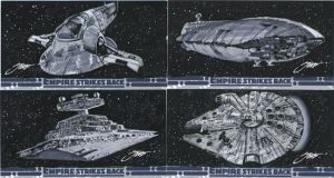Star Wars Empire Strikes Back Ships/ Sketchcards by SteveStanleyArt
