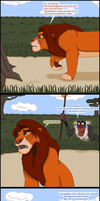 Rafiki speaks with Simba by TLK-Peachii