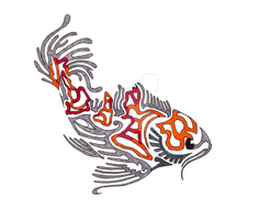 Koi tribal by Skrayle