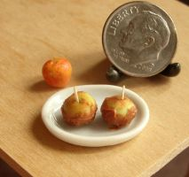 Dollhouse Miniature Caramel Apples by fairchildart