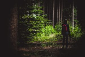Deborah im Wald by chickow