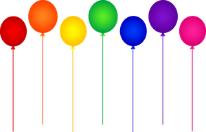 Balloons Seven Rainbow Colors by Luddmii
