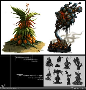 Alien Plant Concepts by RynoZebz