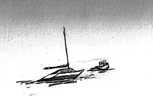 Boats on mud by silentscarecrow