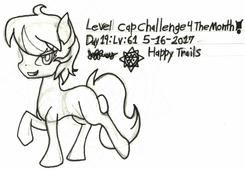 Level-Cap-Challenge-Day-19 Happy Trails by bassmegapokemonlover
