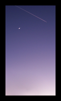 Crescent Moon and Vapor by vanHardenbrook