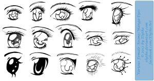 Various Female Anime+Manga Eyes by Elythe