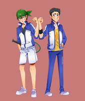 Tennis Bros by AceOfZeon