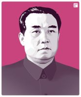 Kim Il-sung by monsteroftheid